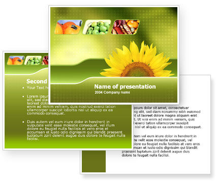 Sunflower PowerPoint Template #00070