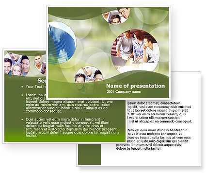 Group Work PowerPoint Template #00074