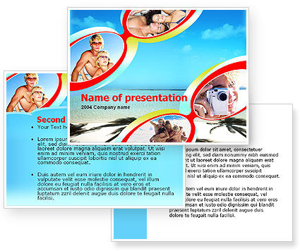 Free Beach PowerPoint Template #00078