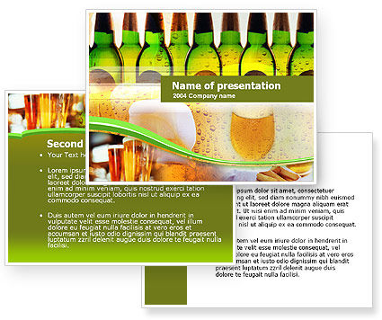 Beer Bottles PowerPoint Template #00086
