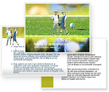 Couple of Golfers PowerPoint Template #00087