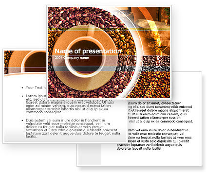 Free Coffee PowerPoint Template #00099