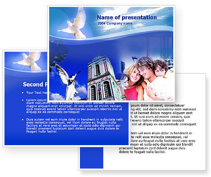 Amazing Grace PowerPoint Template #00112