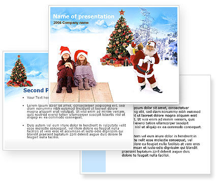 Free Christmas PowerPoint Template, Xmas #00176