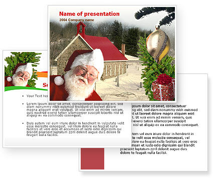 Santa Claus PowerPoint Template #00178