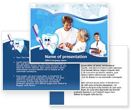 Oral Health Education PowerPoint Template #00186