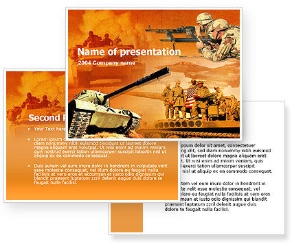 US Army Operations PowerPoint Template #00190