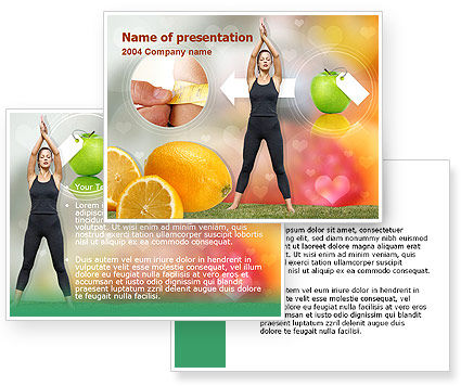 Slimming Tips PowerPoint Template #00202