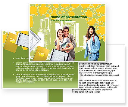 Free College Students PowerPoint Template #00217