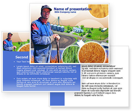 Farmer PowerPoint Template #00236