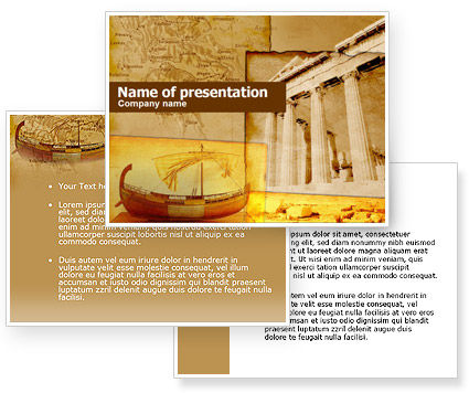 Classic ancient greece powerpoint template for Ancient greece powerpoint template