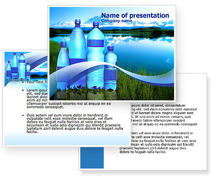 Bottled Mineral Water PowerPoint Template #00378
