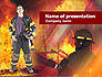 Free Fireman PowerPoint Template #00543 - small preview