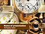 Clock Mechanism PowerPoint Template