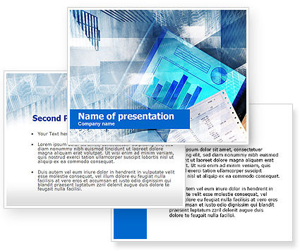 Stock market news powerpoint template poweredtemplate for Stock market ppt templates free download