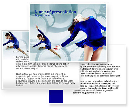 Figure Skating PowerPoint Template #00774