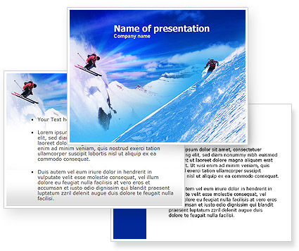 Ski Slope PowerPoint Template #00784