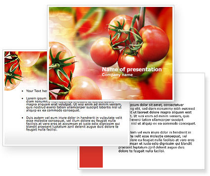 Tomato Farming PowerPoint Template #00786