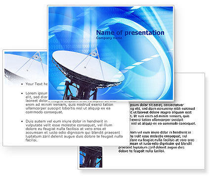 Parabolic antenna powerpoint template poweredtemplate for Parabolic wifi antenna template
