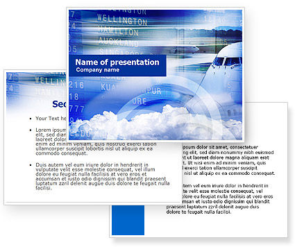 Flight schedule powerpoint template for Flight schedule template