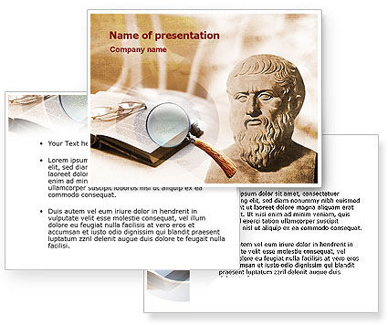 Greek Philosophy PowerPoint Template #00921