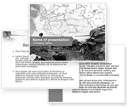World War II PowerPoint Template #01136
