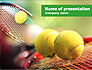 Tennis Balls And Rackets PowerPoint Template #01186 - small preview