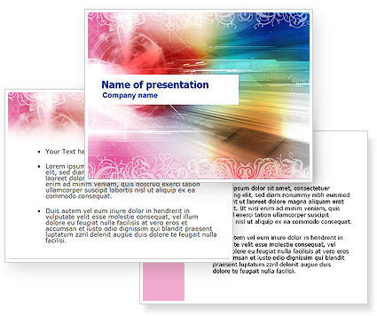Rainbow Color Theme PowerPoint Template #01240