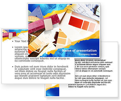 Drafting PowerPoint Template #01344