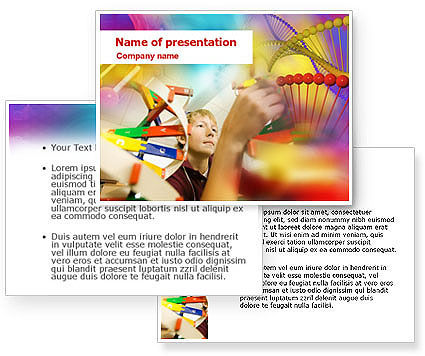 DNA Model PowerPoint Template #01346