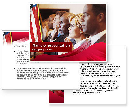 Legal Oath PowerPoint Template #01438