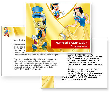 Disney Cartoon PowerPoint Template #01443