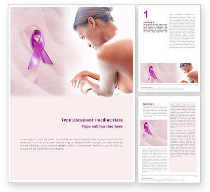 Breast Cancer Word Template #01459