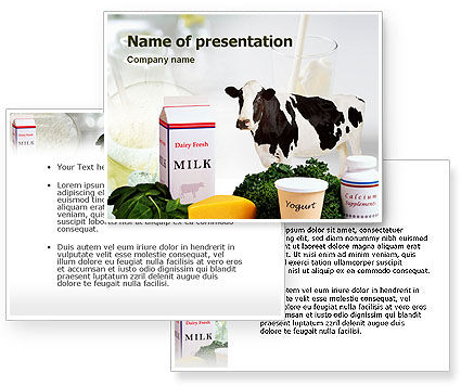 Milk Production PowerPoint Template #01470