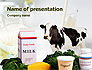 Milk Production PowerPoint Template #01470 - small preview