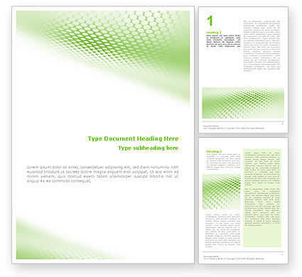 Green Grid Word Template 01585 PoweredTemplatecom mATpyv6R