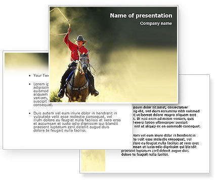 Cowboy PowerPoint Template #01588