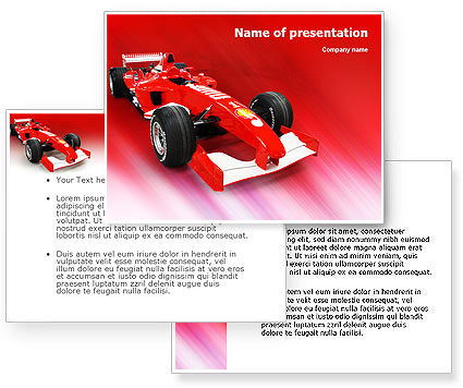 NASCAR PowerPoint Template #01610