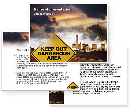Pollution PowerPoint Template #01611