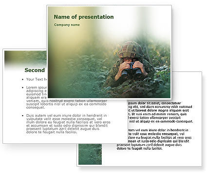 Military PowerPoint Template Backgrounds 01629 PoweredTemplate WkmJx1Eq