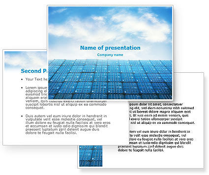 Container PowerPoint Template #01650