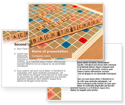 Scrabble PowerPoint Template #01686