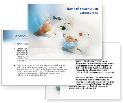 Electronic Microscope PowerPoint Template #01690