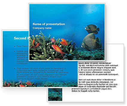 Coral Reef PowerPoint Template #01691