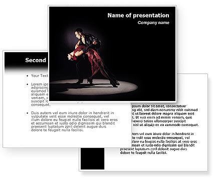 Dance PowerPoint Template #01709