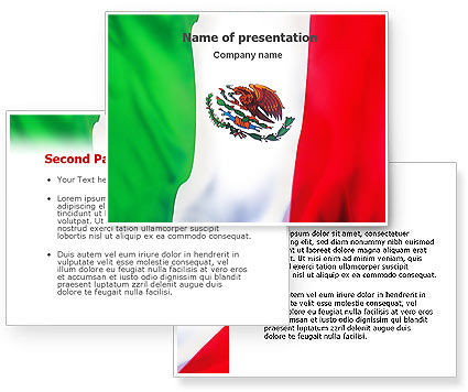 mexican themed powerpoint template - mexican flag powerpoint template