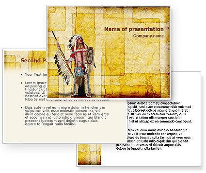 American Indian PowerPoint Template #01718