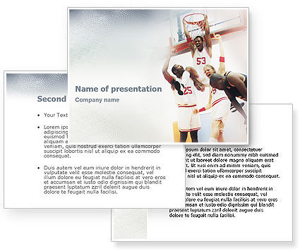 Basketball Game PowerPoint Template #01724
