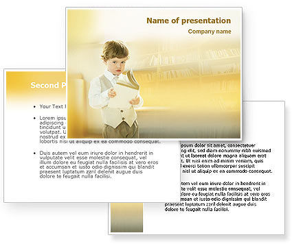 Reading PowerPoint Template #01732