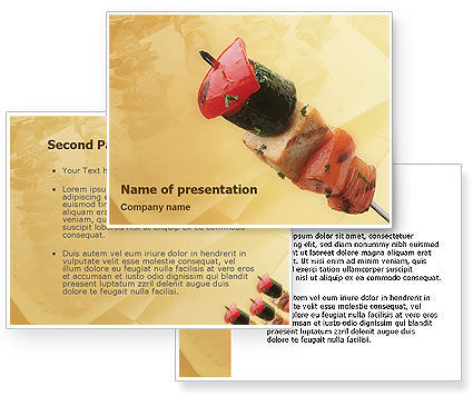 Barbeque PowerPoint Template #01794
